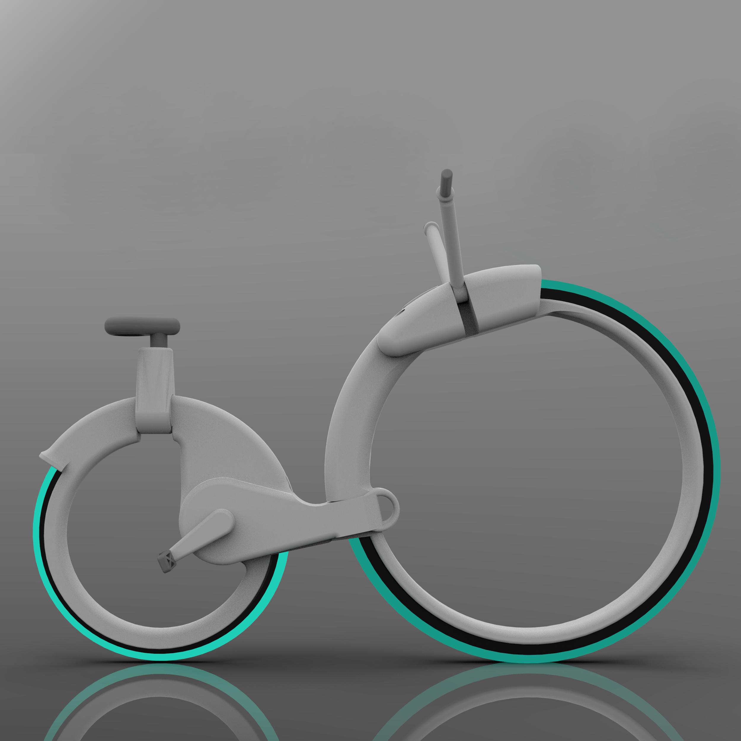 Cyclopic ebike hubless wheel