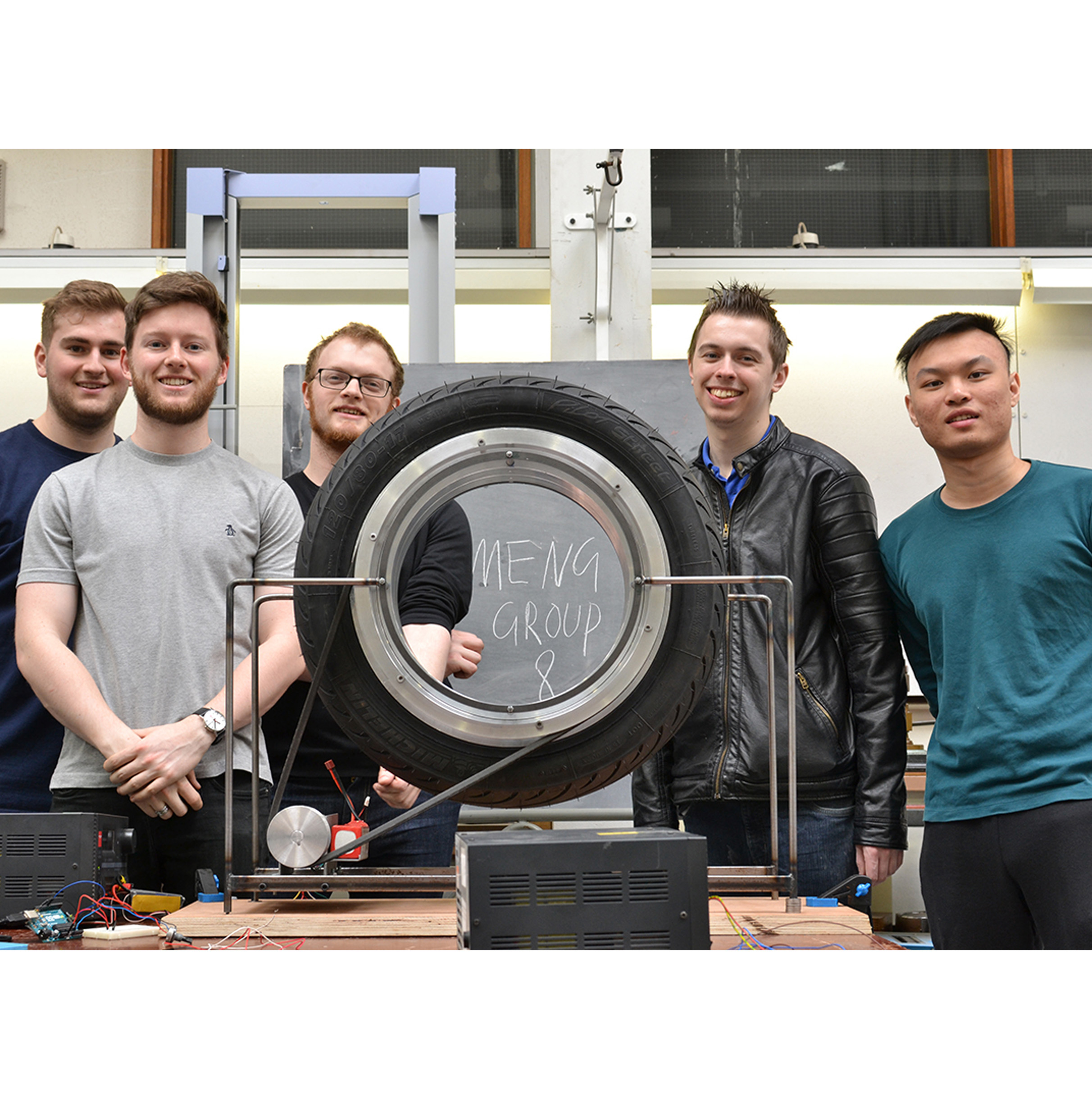 Hubless wheel and Rotary bearing with University of Manchester MEng Students