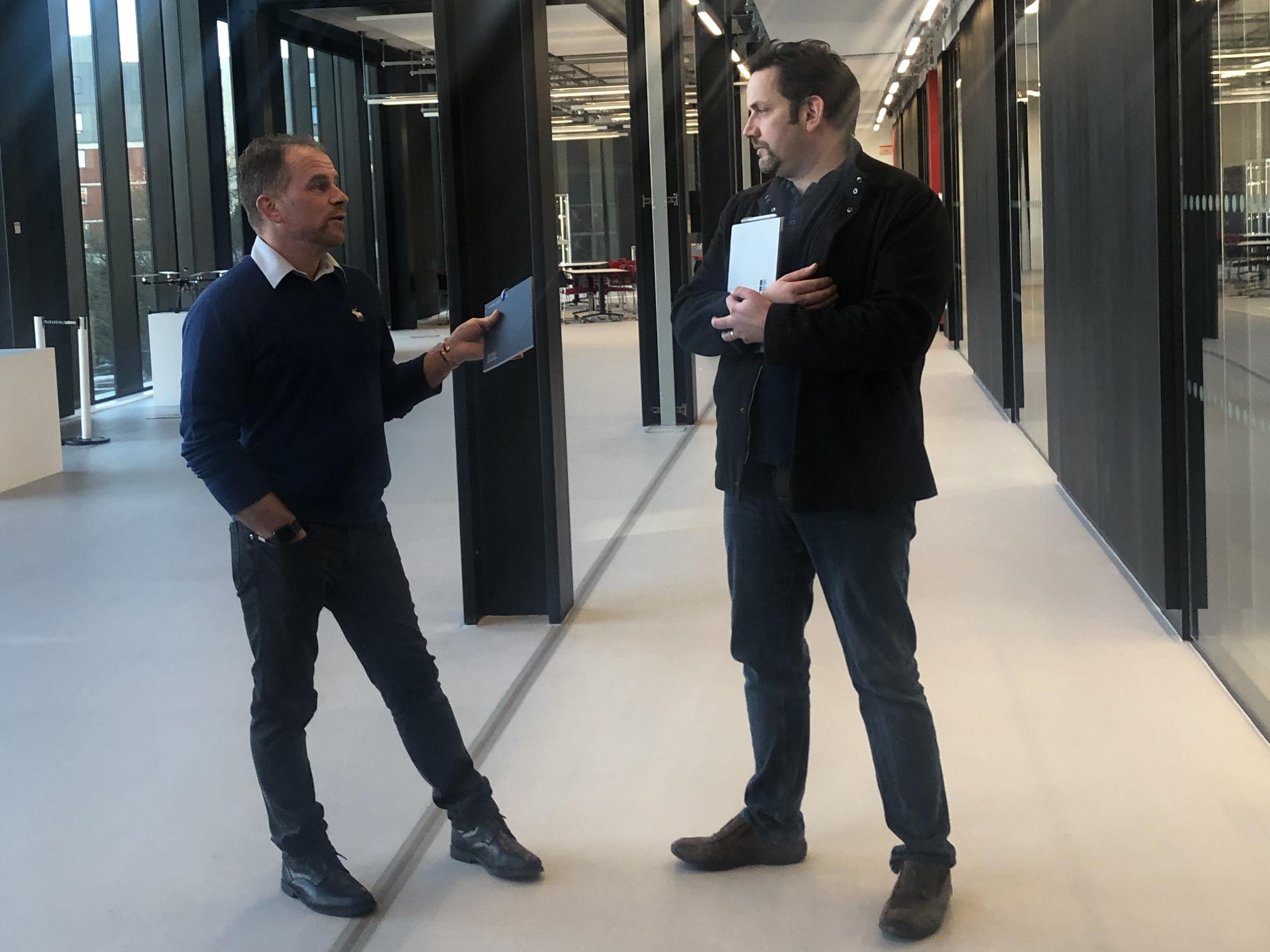 Phil Worden and Matt Dickinson of UCLan